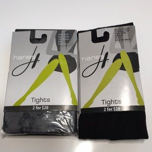 Hanes Fashion Tights 2 Pair